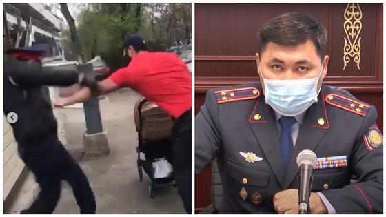 Порвавших куртку и обругавших полицейского алматинцев наказали (видео)