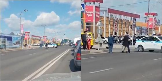 Благородный поступок: Полицейские Караганды перекрыли движение ради пожилого человека