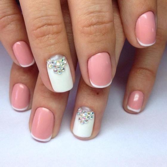 Дизайн ногтей френч: фото, новинки на короткие ногти
