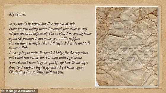 Старинное любовное письмо
