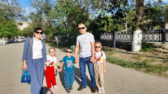 Елдос Бірмағанбетов отбасымен