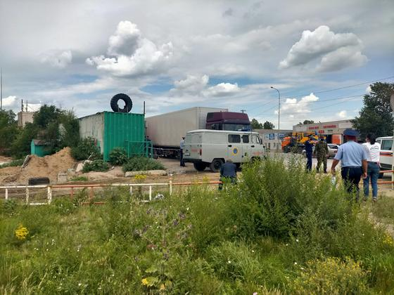 Место происшествия в Павлодаре