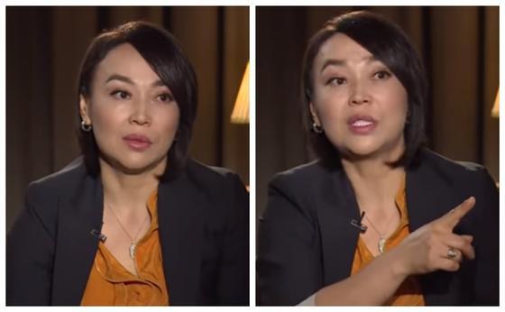 Шұғыла Сапарғалиқызы. Фото: видеодан кадр. Коллаж: KAZ.NUR.KZ