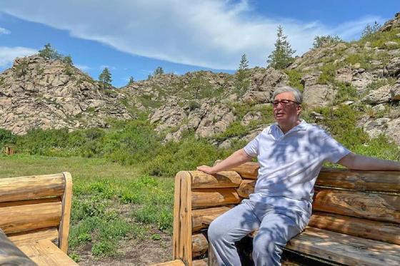 Касым-Жомарт Токаев на отдыхе в ВКО