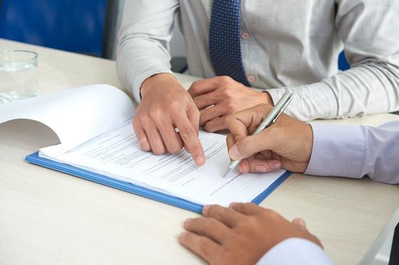 Подписание документов при декларации