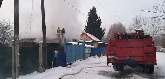 Пожар в частном доме в ВКО