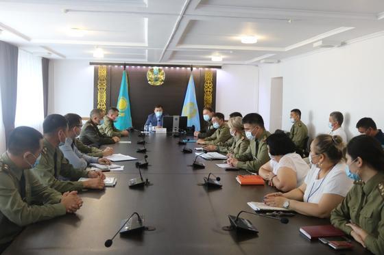 Собрание сотрудников ДЧС Атырауской области