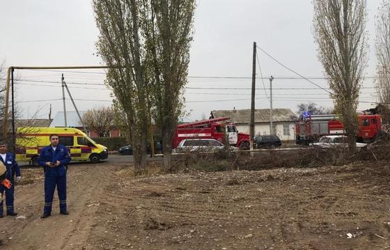 Строящееся здание частично обрушилось в Шымкенте (фото)