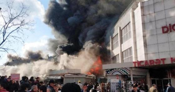 Крупный торговый центр загорелся в Азербайджане