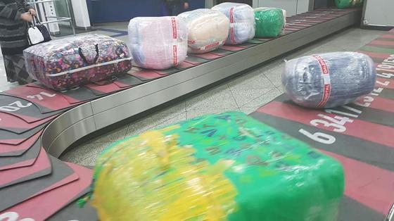 Аэропорт Алматы испытывает коллапс из-за туркменского багажа (фото, видео)