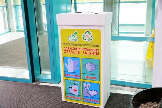 Маски и перчатки утилизируют при температуре 1250 градусов в Нур-Султане