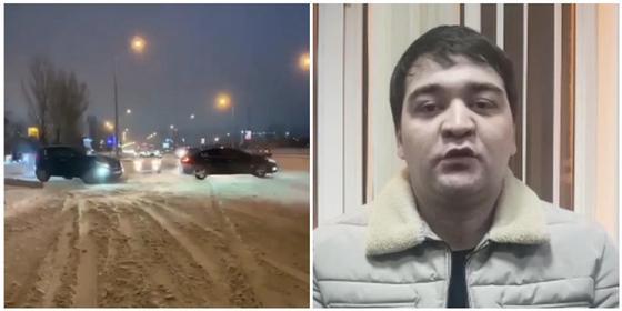 """""""Черный кортеж""""в Нур-Султане: перекрывший дорогу водитель принес извинения (видео)"""