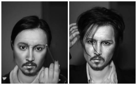 Как китаянка превратилась в Джонни Деппа за 10 шагов с помощью макияжа