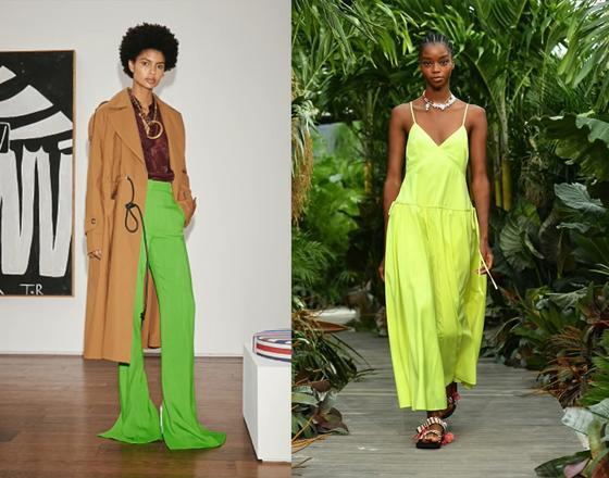 Одежда в неоновых оттенках зеленого
