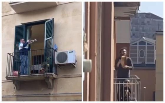 Песни на балконах и встречи в соцсетях: как проходит карантин в Италии (видео)
