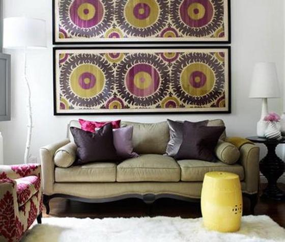 Дизайн дома своими руками: картины из ткани