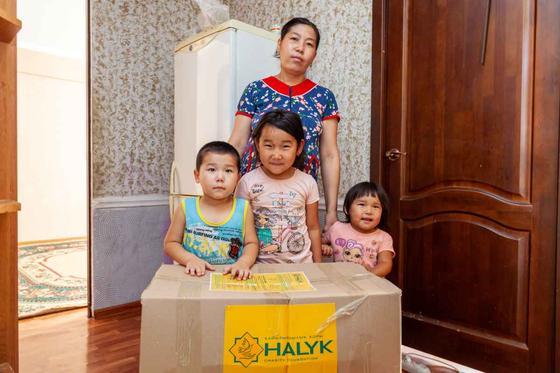 Фонд «Халык» отправит продукты и лекарства нуждающимся семьям Атырауской области