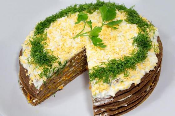 Печеночный торт: рецепт пошаговый