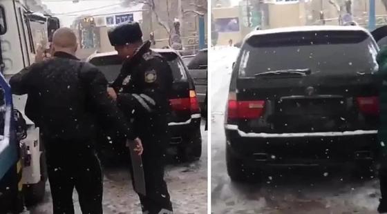Наказали полицейского, вступившего в конфликт с водителем BMW X5 в Алматы