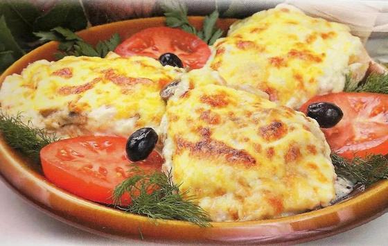 Картофель с курицей и сыром