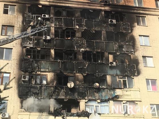 Многоэтажный дом загорелся в Актобе