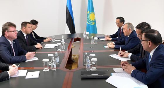 Назарбаев принял эстонского министра