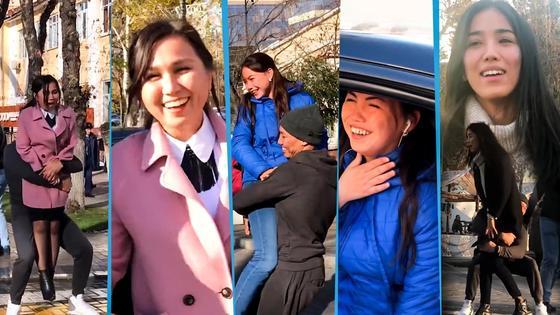 Алматинские девушки были счастливы, что их своровали (видео)