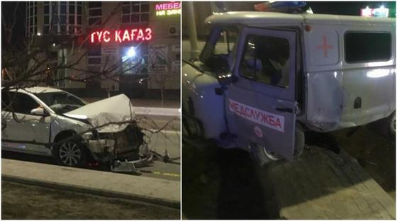 Столкновение Toyota с каретой «скорой в Акту»: есть пострадавшие (фото)