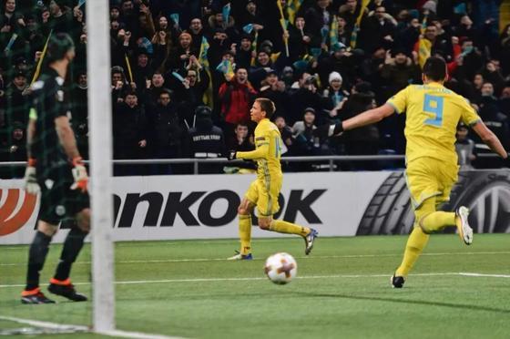 """""""Астана"""" проиграла """"Спортингу"""" в Лиге Европы, пропустив 3 гола за восемь минут"""