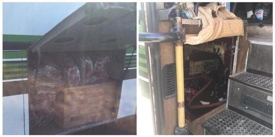 Вез пассажира в багажнике: водителя автобуса оштрафовали акмолинские полицейские