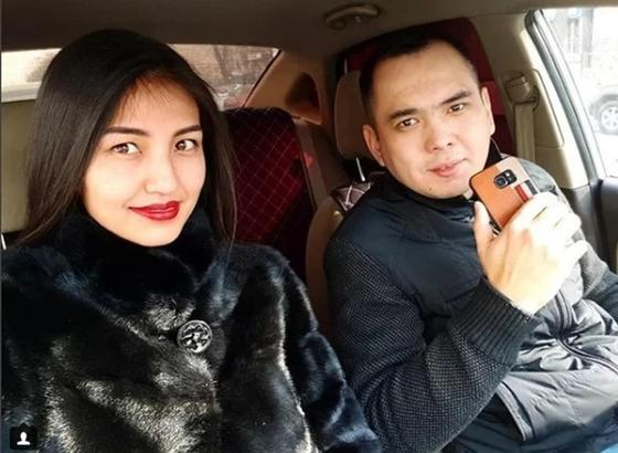 Жан Ахмадиев жары Индирамен. Фото: Instagram
