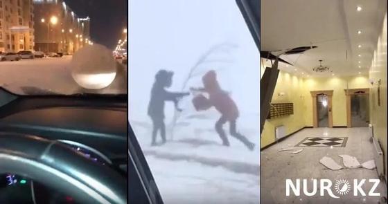 ЧС в Астане: шар-убийца, разрушенные здания и унесенные люди (видео)