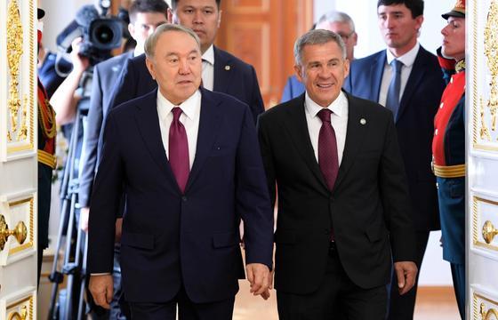 Назарбаев встретился с президентом Татарстана (фото)