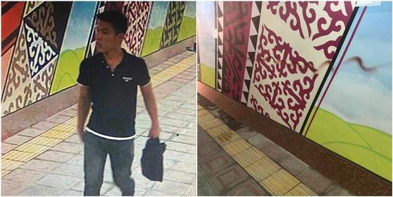Краска не успела высохнуть: хулиган разрисовал стены обновленной подземки в Алматы