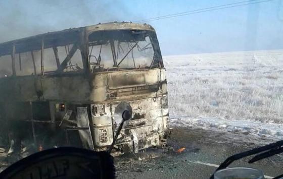 52 человека погибли в загоревшемся автобусе в Актюбинской области