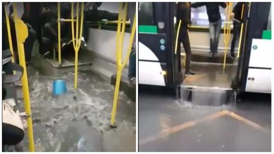 «Новый вид транспорта, автобус–трансформер: видео затопленного автобуса в Астане опубликовано в сети