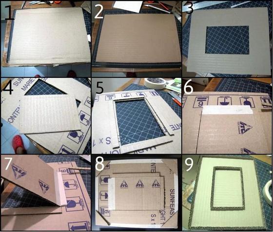 изготовление фоторамки из картона