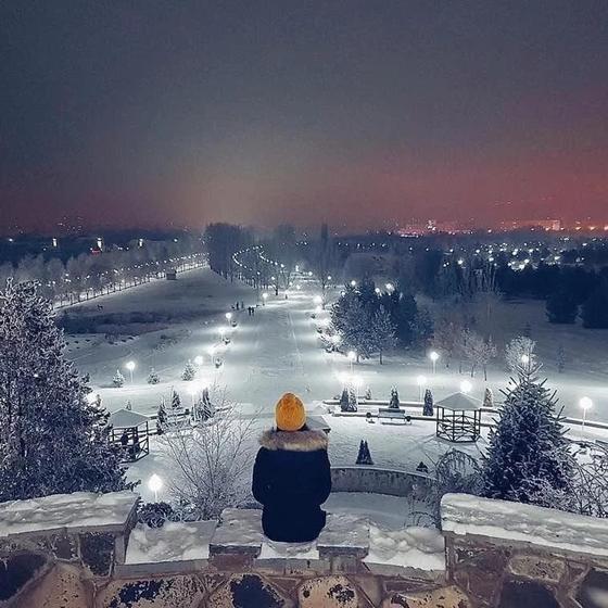 Алматының көздің жауын алар қысқы көрінісі