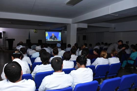 Туркестанцы приветствуют инициативы, озвученные в послании президента казахстана