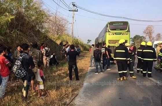 В Таиланде водитель спас из огня 50 пассажиров, но сам погиб