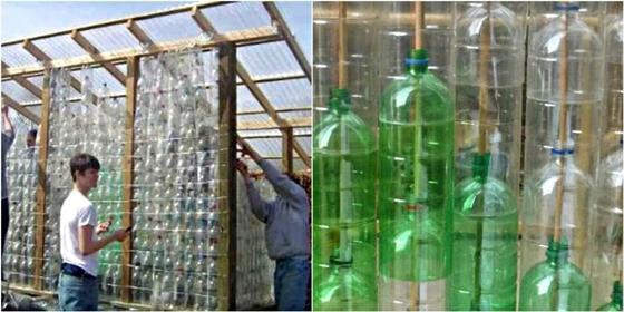 как построить теплицу из бутылок