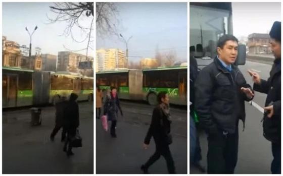 """Автобусы-""""гармошки"""" устроили коллапс в Алматы"""