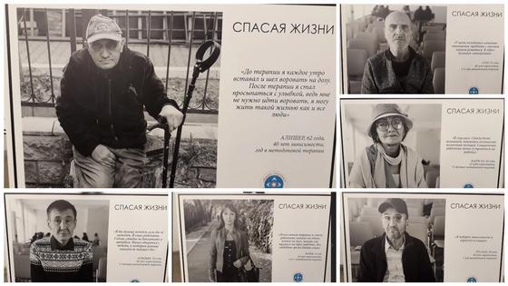 Фото с персональной выставки Саната Онгарбаева в Алматы
