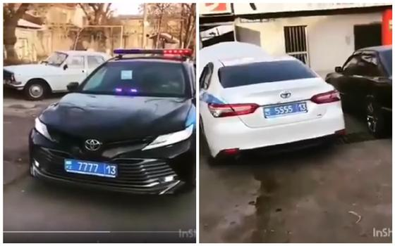 Полиция объяснила зачем номер на патрульных Camry 70 номер 7777 и 5555 (видео)