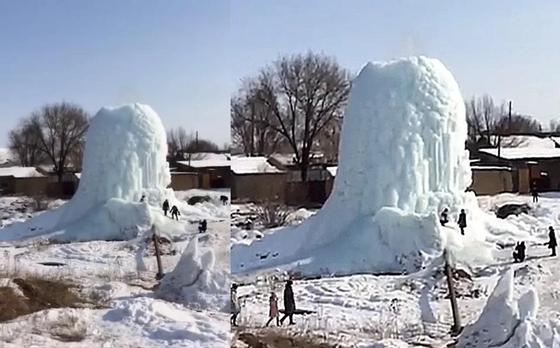 «Гигантский леда»: Невероятный айсберг появился в Алматинской области (видео)