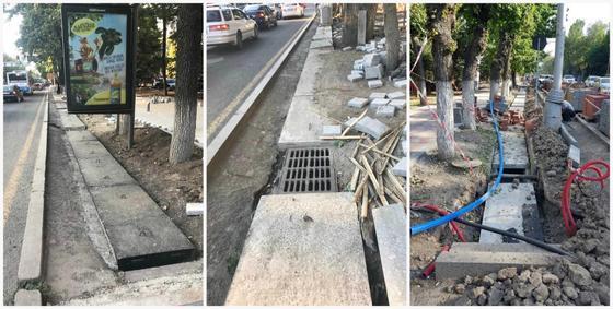 Часть арыков закрыли бетонными плитами в Алматы