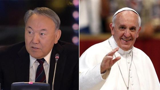 Назарбаев пригласил Папу Римского в Астану