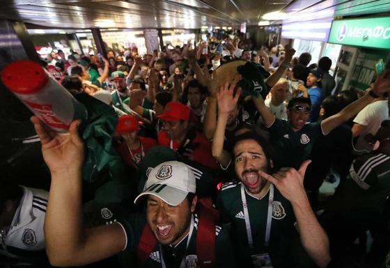 Прыжки мексиканских фанатов после гола вызвали землетрясение