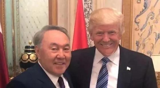Назарбаев және Трамп. Мұрағаттық фото