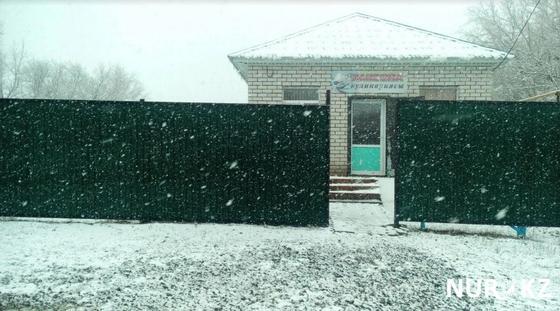 Снег выпал в Актобе (фото)